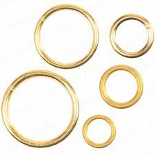 small metal rings images Brass curtain rings ebay jpg
