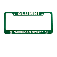 michigan state alumni license plate frame 12 best auto gear images on bookstores license plate