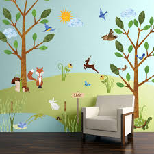 animal stencils stickers and coordinating home decor for children forest friends wall decal kit jumbo set