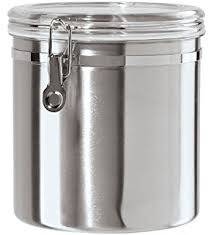 stainless steel canister sets kitchen oggi stainless steel canister set with airtight acrylic lid and