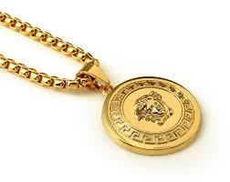 hip hop necklace images Men 18k real gold plated 3d medusa pendant hip hop necklace souq jpg