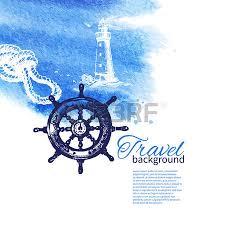 travel vintage background sea nautical design hand drawn sketch