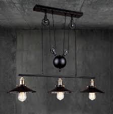 Pulley Pendant Light Discount Rh Loft Vintage Iron Industrial Led American Country
