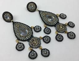 Cascading Bead Chandelier Earrings Express Miguel Ases Smoke Drop Earrings Townhome