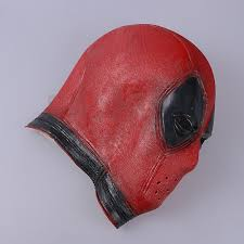 deadpool cosplay latex full face mask halloween mask