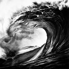 photorealistic charcoal drawings ocean nature photos and