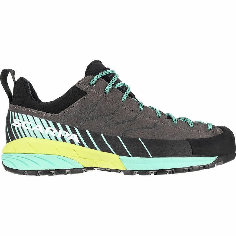 Scarpa Mescalito Approach Shoes Titanium/Green Blue Medium 38.5 72100/352-TitGblu-38.5