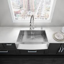 Sinks Stainless Steel Kitchen by Vigo 36 Inch Farmhouse Apron 16 Gauge Stainless Steel Kitchen Sink
