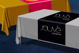 trade show table runner jouvé table runner ariix marketing