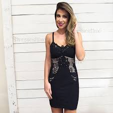 spaghetti dress sheath spaghetti straps black elastic satin homecoming dress