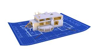 blueprint for house house being built on a blueprint paper stock footage 933511