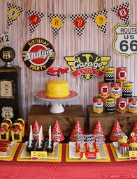cing themed party kara s party ideas vintage rustic race car mcqueen cars boy party