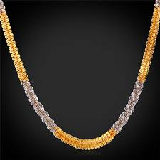 make gold chain necklace images Twisted singapore chain necklace fashion jewelry 22 39 39 55cm 6mm jpg