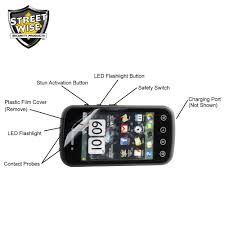 Stun Design by Streetwise Samstun 6 Million Volt Rechargeable Cell Phone Stun Gun
