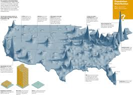 Map Of Usa Showing States by The Big Picture Infographic Showing U S Population Density
