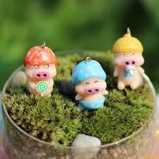 2017 2016 mini mcdull pig figurines office table bonsai decor