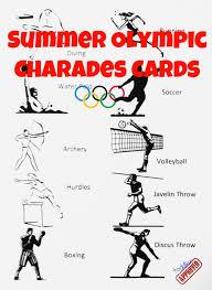 summer olympic charades summer olympics charades and olympics
