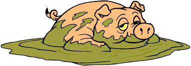 pig mud cartoon clipart panda free clipart images