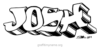 my name coloring pages josh graffiti my name