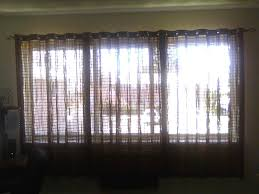 decoration incredible window treatment ideas using porch bamboo