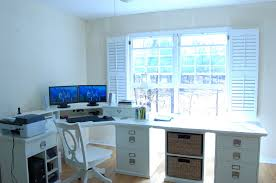 Home Office Double Desk by Pottery Barn Bedford Home Office Update