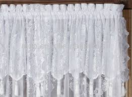 stylish priscilla curtains with attached valance and lace curtains