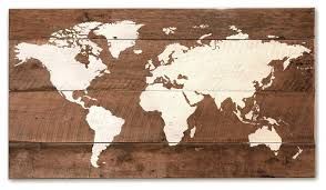 wood world world map large rustic novelty signs by grindstone design