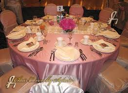 Cheap Table Linens For Rent - chicago table linens for rental in dusty rose in the lamour satin