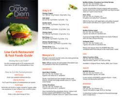 printable keto restaurant foods list low carbe diem