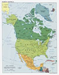 Political Map Of Mexico Maps Of North America And North American Countries Political