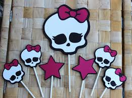 monster high decorations some fruit lolypop in pottery decorating