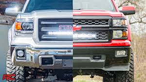 led lights for 2014 gmc sierra 2014 2018 gm 1500 hidden 30 inch curved cree led light bar grille