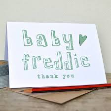 baby thank you notes personalised new baby thank you cards by becka griffin