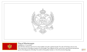 flag of montenegro coloring page free printable coloring pages