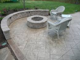 Textured Concrete Patio by Stamped Concrete Patio With Fire Pit Fire Pits And Walls