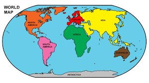 Antarctica World Map by Map Of South And North America With Countries Capitals And Major