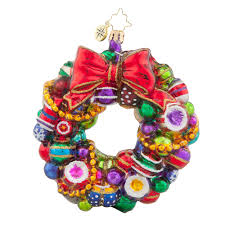 christopher radko ornaments 2016 radko joyful wreath ornament