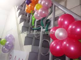 stairs decorations joaine balloon designs