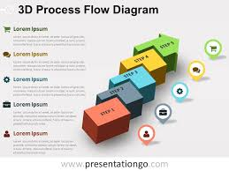 free editable 3d process flow powerpoint diagram u2026 pinteres u2026