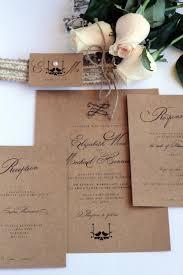 rustic wedding invitation love birds burlap belly band lace