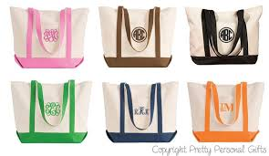 monogrammable items tote bag monogrammed personalized canvas tote bag in 6