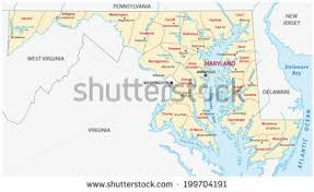 maryland map vector maryland map stock images royalty free images vectors