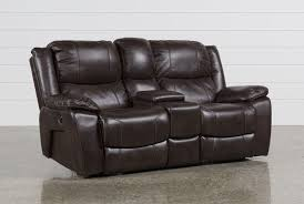 sofa graceful reclining loveseat with console microfiber center