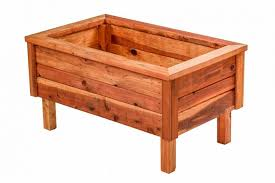 Raised Garden Bed With Bench Seating Redwood Northwest Redwood Tables Planters Benches U0026 More