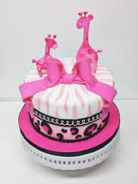 giraffe baby shower cake nashville pink giraffe baby shower cake with zebra