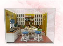dolls house kitchen furniture k001 miniature diy wooden doll house kitchen furniture light