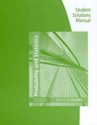 student solutions manual for hayter u0027s probability and statistics