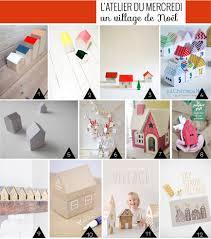 idee village de noel un village de noël composé de petites maisons à faire soi même