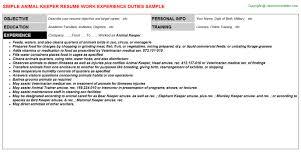 Sample Resume For Laborer by Animal Welfare Officer Sample Resume Special Needs Teaching Sample