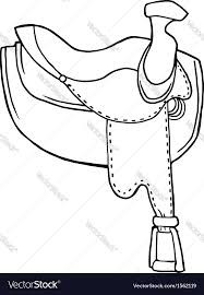 Horse Saddle by Horse Saddle Royalty Free Vector Image Vectorstock